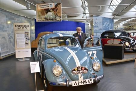 Rennfahrer Hans Wehner VW Käfer 1200