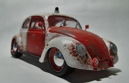 VW Käfer Modell Feuerwehr Ratte