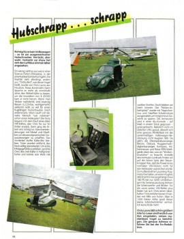Dirthy Bird – VW Käfer als Hubschrauber