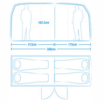 VW Bus Innenraum Aufteilung