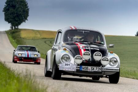 Donau Classic 2015 mit einer ganzen Flotte an coolen VW Käfer