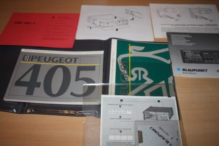Peugeot 405 Betriebsanleitung