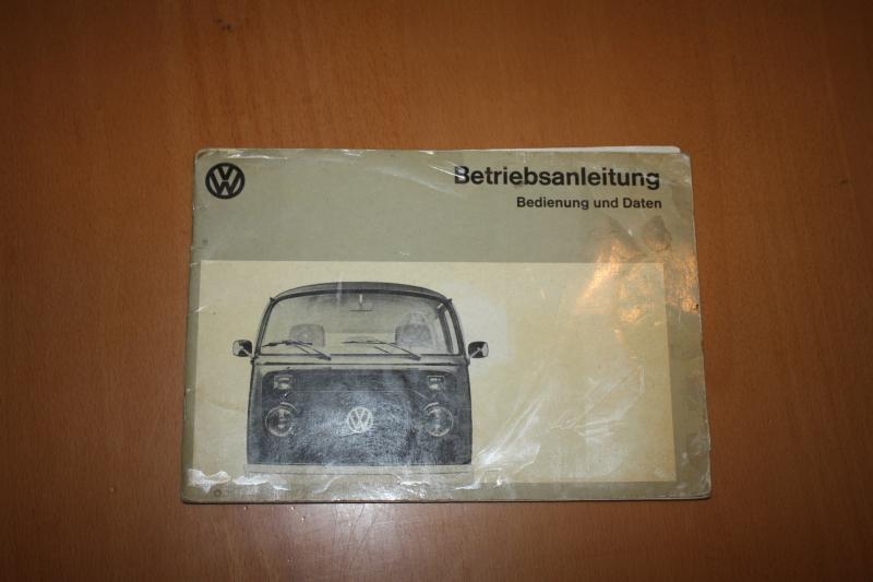 VW Bus 1973 Bedienungshandbuch