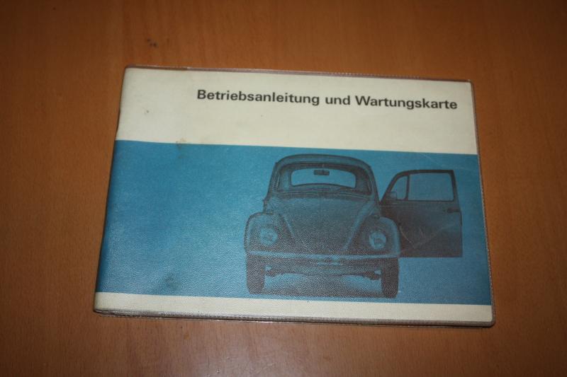 VW Käfer 1967 Betriebsanleitung